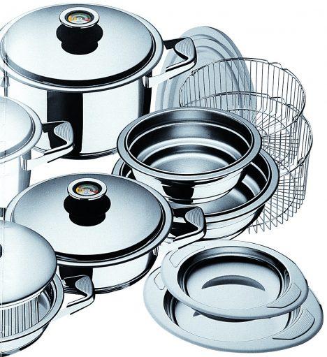 První nádobí Zepter, které se začalo prodávat v Rakousku v roce 1986.