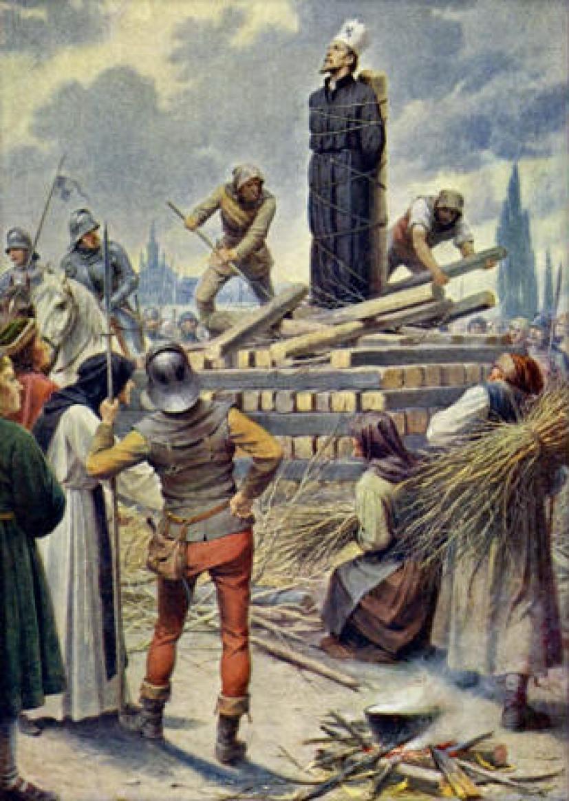 Reformátor Jan Hus skončí na hranici. Ve svých názorech se v mnohém inspiruje u anglického rebela.