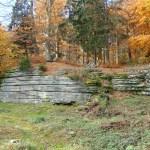 Zřícenina hradu Štamberk a okolní kamenné moře