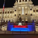 Fontána Národního muzea se opět rozzářila barvami