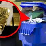 Zlaté cihly v popelnici aneb když se bezdomovci poštěstí