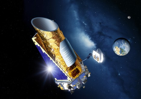 Kepler telescope in universe