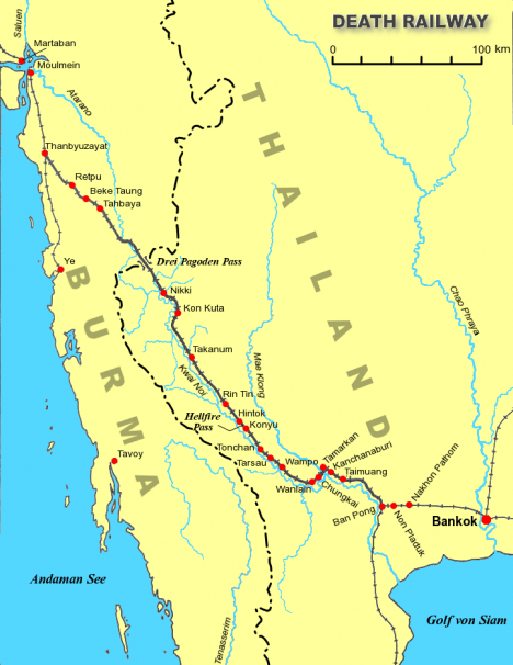 "Takzvaná ""železnice smrti"" spojila Thajsko a Barmu. Fungovala však pouze rok!"