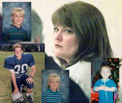 Susan Eubanksová a její čtyři děti.