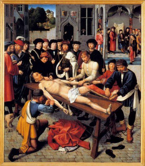 Krutým způsobem popravy bylo stažení z kůže zaživa, které praktikovaly národy v Chaldeji, Babylonii a v Persii. K řezání přitom nebyly používány jen nože, ale třeba ostré střepy z mušlí. V Evropě se také stahování z kůže praktikovalo jako mučení. Z těla odsouzence byly odřezávány pruhy kůže ze zad a hrudi. Kromě vykrvácení mohl nejčastěji za smrt odsouzeného šok z bolesti.