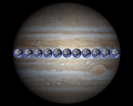 5 - Srovnání Jupitera a Země
