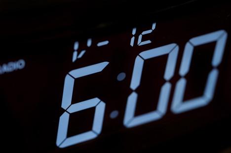 an early 6 am alarm clock call