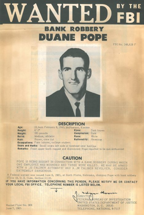Duane Earl Pope se rázem stal nejhledanějším zločincem.