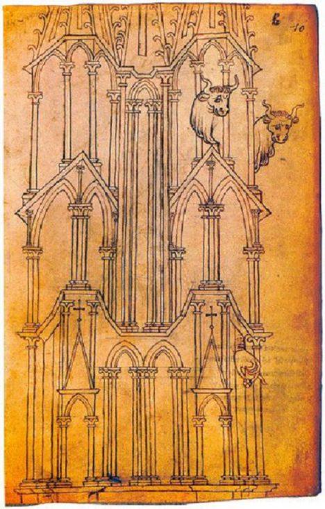 Architektura se stala středobodem Honnecourtových zájmů.
