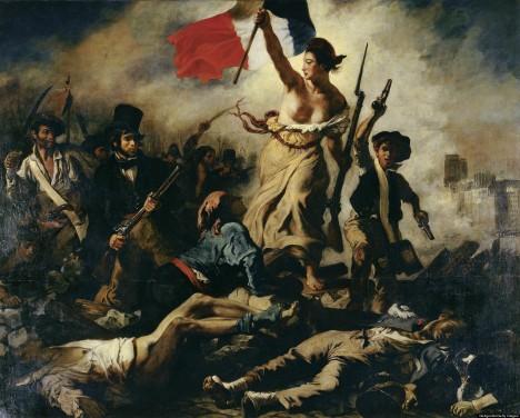 Během červencového převratu v roce 1830 vzniká slavný obraz Svoboda vede lid na barikády od francouzského malíře Delacroixe.