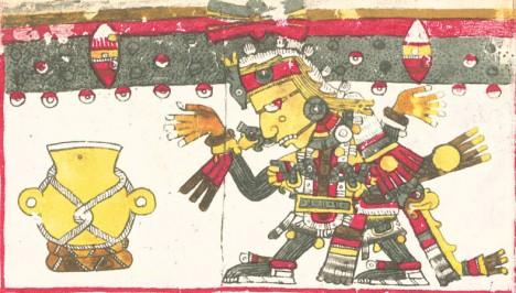Bůh slunce Huitzilopochtli bude mít z obětí velkou radost.