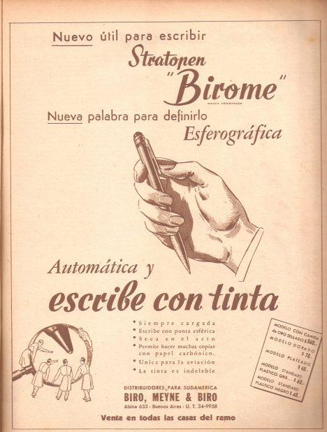Biróova pera mají velmi snadné ovládání.