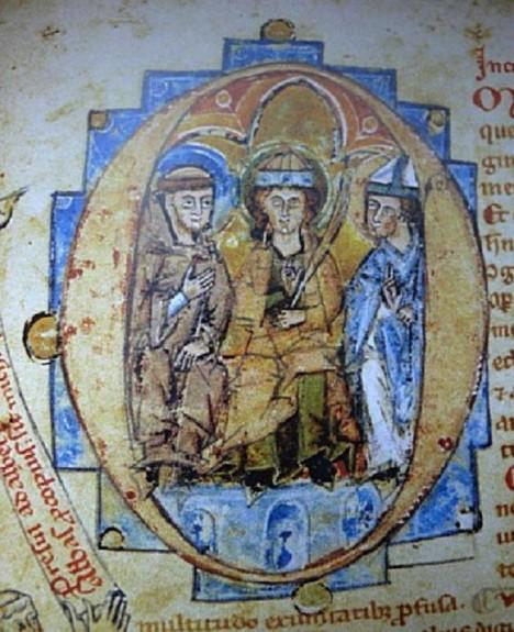 Biskup Vojtěch (vpravo) bojuje proti opilcům. Bohužel marně.