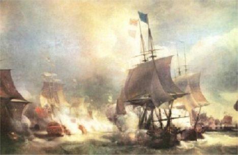 Bitva u Ushantu přinesla nerozhodný výsledek. Francouzi ale věří, že když seženou spojence, oslaví na britských ostrovech triumf.