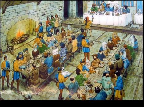 Bohaté hostiny na panovnických dvorech mívaly několik chodů.