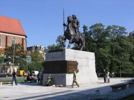 Boleslavův pomník v polské Vratislavi