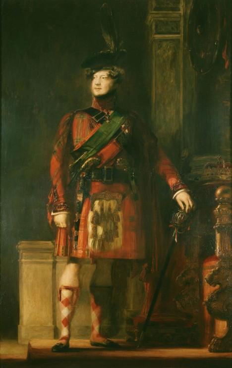 Britský král Jiří IV. si kilt vyzkoušel také.