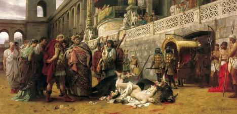 Císař Nero prosluje také fanatickým pronásledováním prvních křesťanů
