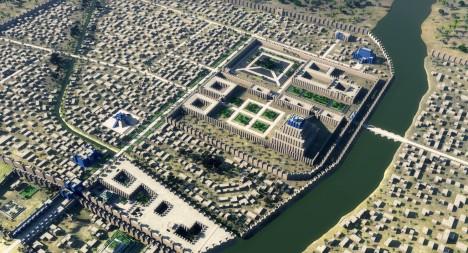 Impozantní dvojité hradby chránící město byly 25 metrů vysoké a 4 kilometry dlouhé