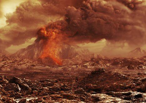 Povrch Venuše je dnes přibližně z 80 % tvořen lávovými planinami a teploty na povrchu dosahují stovek stupňů Celsia.