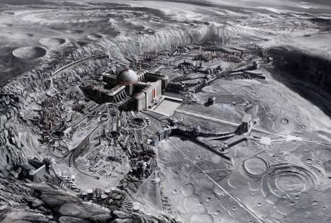Konspirační teorie o tom, že na Měsíci stojí tajné základny, daly vzniknout řadě filmů z žánru sci-fi.