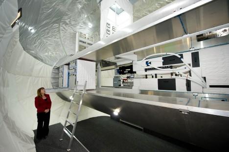 Největší modul jménem Olympus má délku 17,8 metru a dostatek prostoru až pro 30 astronautů.