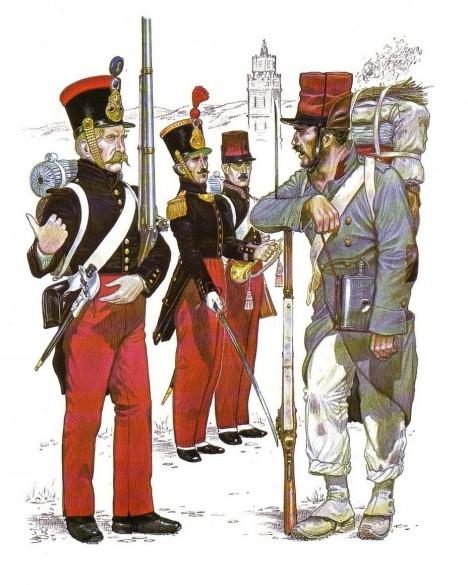 Francouzská cizinecká legie operuje hlavně v africkém Alžírsku, tehdejší francouzské kolonii.