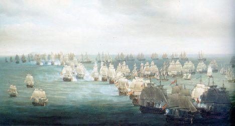 Francouzské lodě nemají šanci. Britská flotila jim ukáže, kdo je na moři pánem.