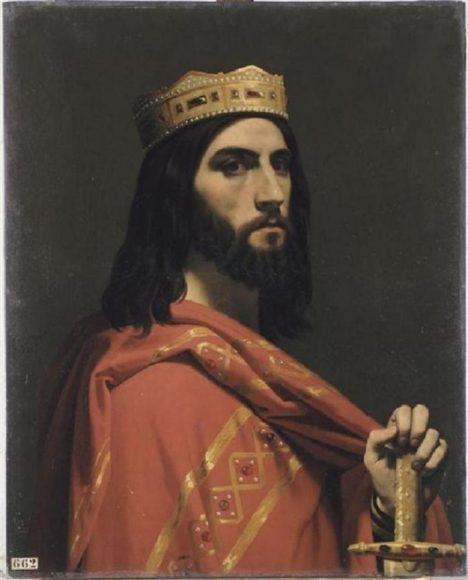 Franský král Dagobert je naštvaný kvůli přepadení svých kupců.