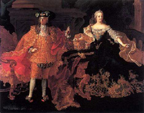 František I. Štěpán Lotrinský svoji ženu doprovází při různých příležitostech.