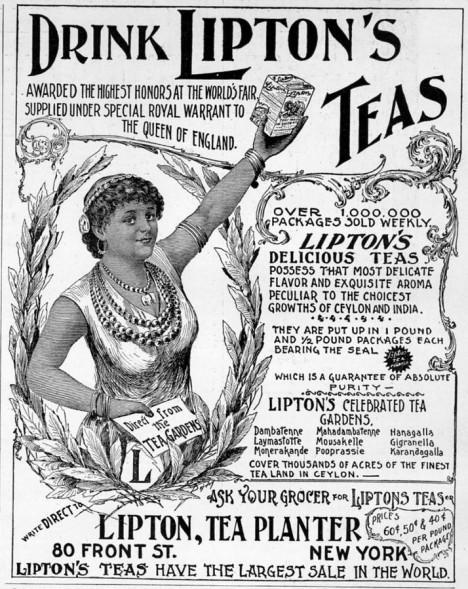 Reklamní plakáty vyzývají ke koupi čaje Lipton. A úspěšně.