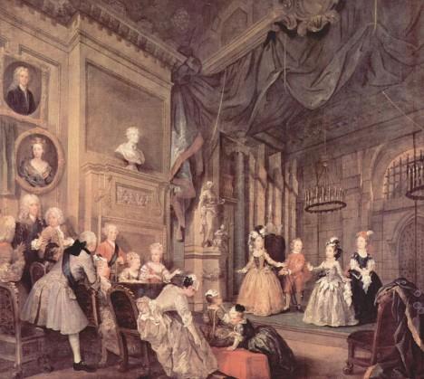 Hudební a divadelní představení jsou na panovnických dvorech v 18. století oblíbenou zábavou.