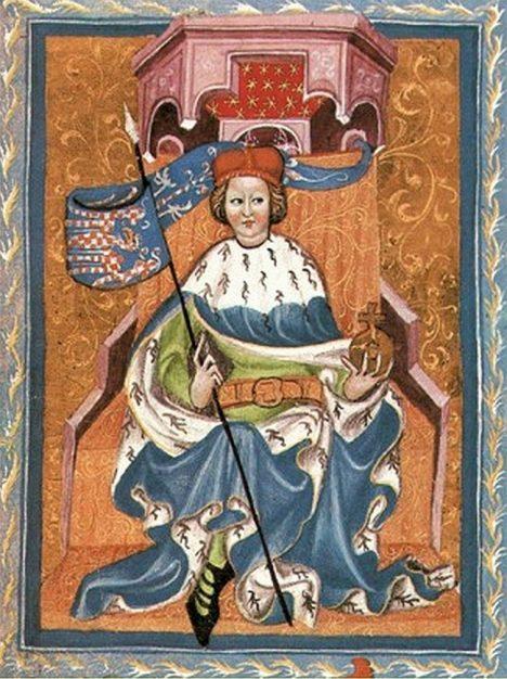 Tmavé vlasy a oči jsou už od mládí typickým znakem Přemysla Otakara II.