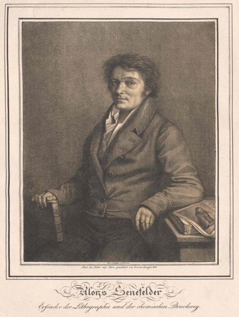 Jako herec Alois Senefelder přemýšlí, jak levně a rychle tisknout divadelní texty.