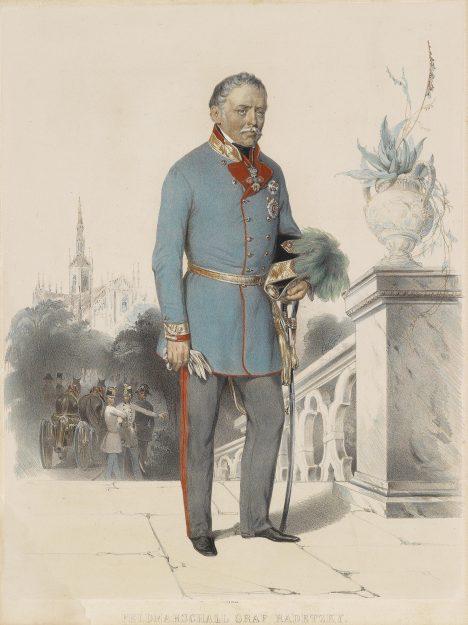 Josefa Václava Radeckého považují vojáci za svého tátu. Vždy je na bojišti s nimi.