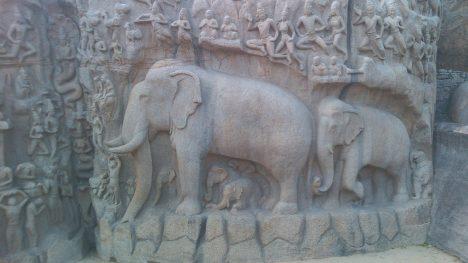 Kamenní sloni vznikají zřejmě už v době vlády Mahéndravarmana I.