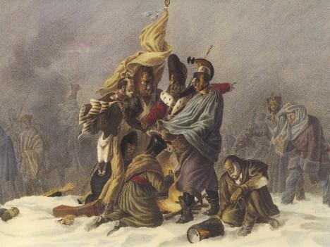 Letitý zvyk císaři tentokrát úspěch nepřinese. Nepomůže ani kořalka, kterou rozdá Napoleon vojákům.