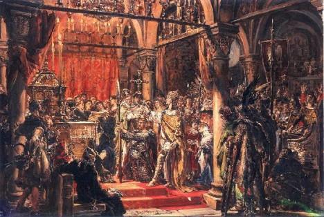 Královské korunovace se polský vladař dočká až těsně před svou smrtí v roce 1025