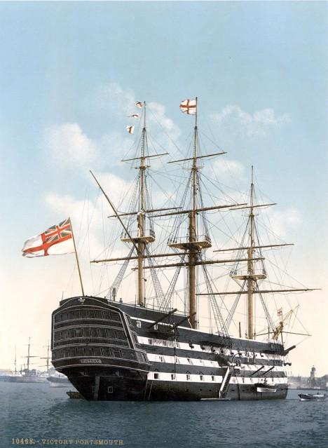 Loď Victory je symbolem nadvlády Velké Británie na moři.