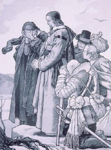 Loučení Komenského s vlastí. Na mor mu zde zemřela první žena a malý synek.