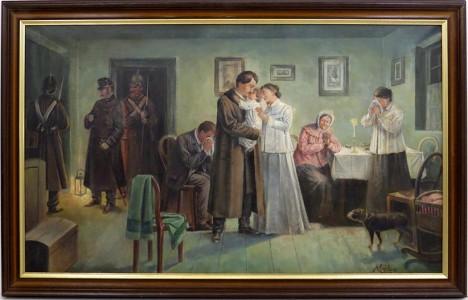Loučení s manželkou a malou dcerkou před odjezdem do Itálie je pro Borovského těžké.