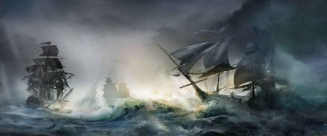 Mohutné vlny část lodí pošlou ke dnu i s celou posádkou.