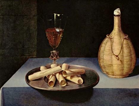 Obraz francouzského malíře Lubina Baugina popírá, že nápad stáčet oplatky do trubiček vznikl až v Hořicích.