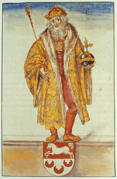 Odborníci soudí, že jako první měl dochovanou korunu na hlavě císař Otto I.