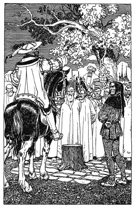 Památný dub v Poděbradech, na jeho větve údajně stříkala krev nevinně popravených havířů.