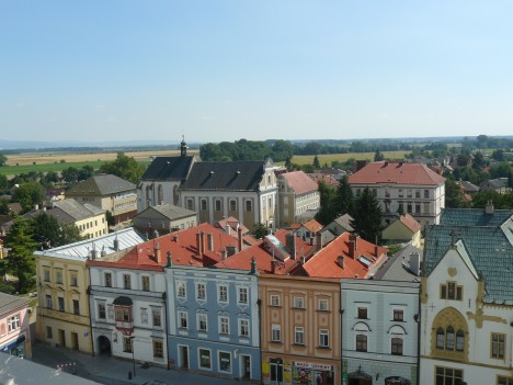 Pohled na severomoravský Uničov. Město se pyšní nejstarší dochovanou zakládací listinou u nás.