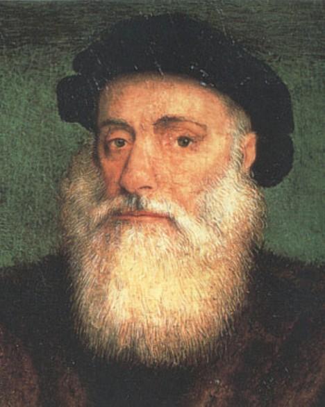 Portugalský objevitel Vasco da Gama před arabskými obchodníky raději rychle zmizí.