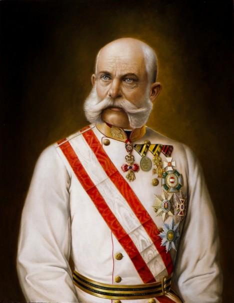 Rakouský císař František Josef I. přikáže ministru vnitra,  aby proti rebelovi rázně zakročil.