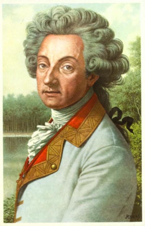 Rakouský diplomat Charles Joseph De Ligne dělá Casanovovi na stará kolena společnost.