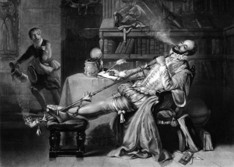 Do Anglie přiváží novou kratochvíli sir Walter Raleigh.